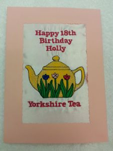HAPPY BIRTHDAY - Tea Pot Yorkshire Tea - Card